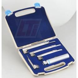Ветеринарен фиброоптичен ларингоскоп комплект с 4 лъжици