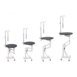Air Lift Grooming Table With Round Table Top
